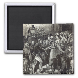 Reception of Louis Philippe at Windsor Castle 2 Inch Square Magnet