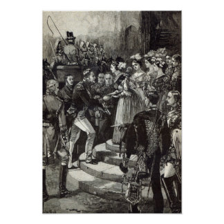 Reception of Louis Philippe at Windsor Castle Poster
