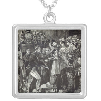 Reception of Louis Philippe at Windsor Castle Silver Plated Necklace
