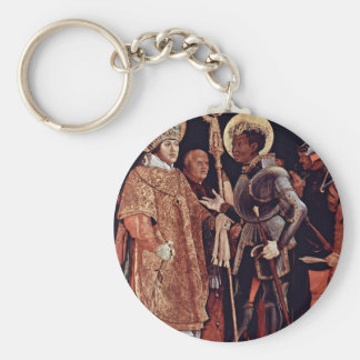 Reception Of St. Erasmus By St. Mauritius Overview Keychains