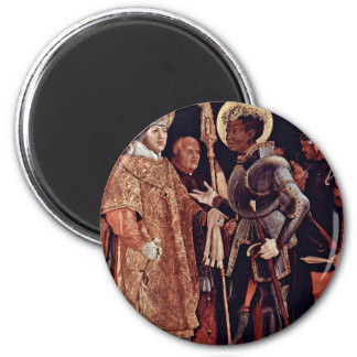 Reception Of St. Erasmus By St. Mauritius Overview Refrigerator Magnet