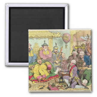 Reception of the Diplomatique 2 Inch Square Magnet
