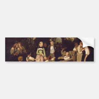 Reception of the Wedding Couple by Theodor Schuz Bumper Sticker