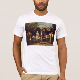 Reception of the Wedding Couple by Theodor Schuz T-Shirt