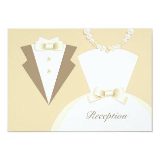 Reception Only Bride & Groom Wedding Card Custom Invite