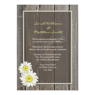 reception only invitations & announcements zazzle Wedding Reception Only Invitations reception only rustic daisy wedding invitations wedding reception only invitations