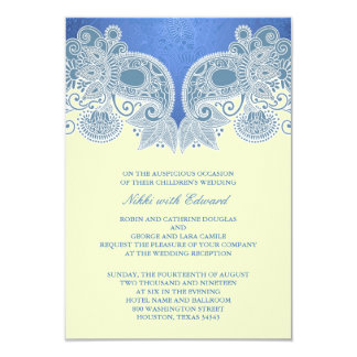 "Reception Only Victorian Wedding Card 3.5"" X 5"" Invitation Card"