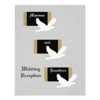 Reception Only Wedding Invitation -- Wedding Doves Personalized Invitations
