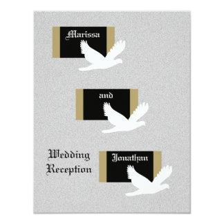 Reception Only Wedding Invitation -- Wedding Doves