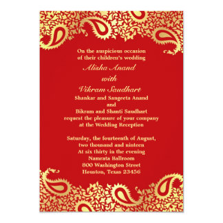 Reception Paisleys Wedding Elegant Flat Card