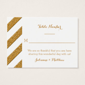 Reception Place Cards Script Forever Love Glitter
