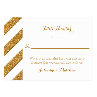 Reception Place Cards Script Forever Love Glitter Large Business Cards (Pack Of 100)