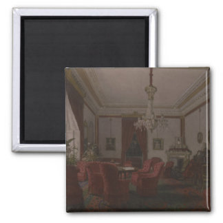 Reception Room in Berlin Reich Chancellor's 2 Inch Square Magnet