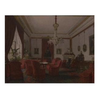 Reception Room in Berlin Reich Chancellor's Postcard