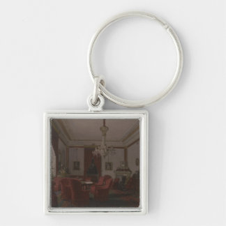 Reception Room in Berlin Reich Chancellor's Silver-Colored Square Keychain