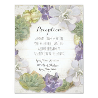 Reception Rose Peony Wreath Modern Simple Leaf Card