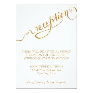 Reception Script Forever in Love Gold Glitter Invite