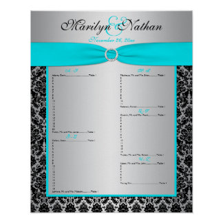 Reception Seating Chart Poster