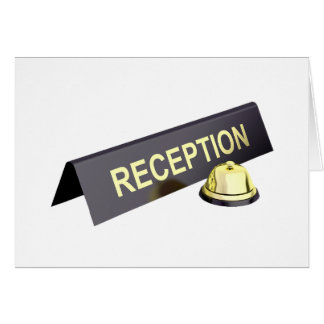 Reception Sign And Bell Note Cards