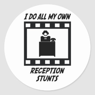 Reception Stunts Round Stickers
