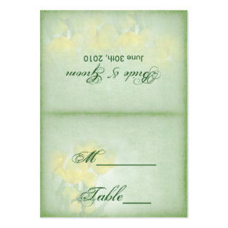Reception Table Cards - Yellow Tulips