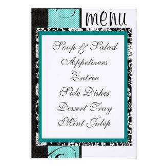 Reception Table Menu Invite