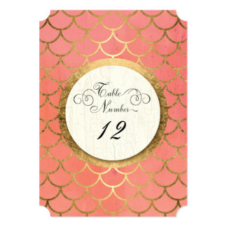 Reception Table Numbers Faux Gold Art Deco Wedding Card