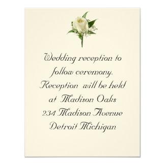Reception Wedding Invitation White Rose