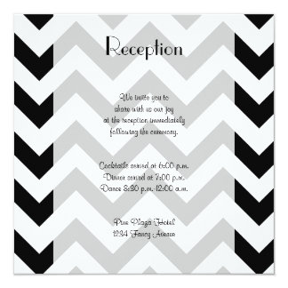 Reception - Zigzag (Chevron) - White Black Card