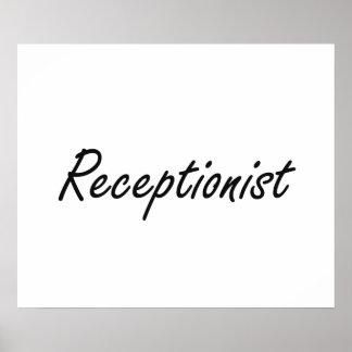 Receptionist Artistic Job Design Poster