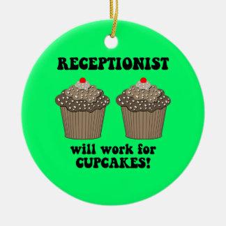 receptionist ceramic ornament