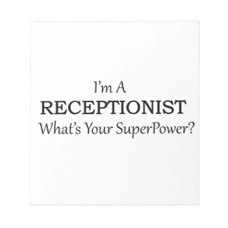 RECEPTIONIST NOTEPAD