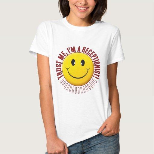 Receptionist Trust Smiley T Shirt T-Shirt, Hoodie, Sweatshirt