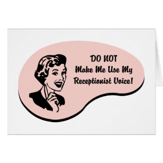 Receptionist Voice Greeting Card