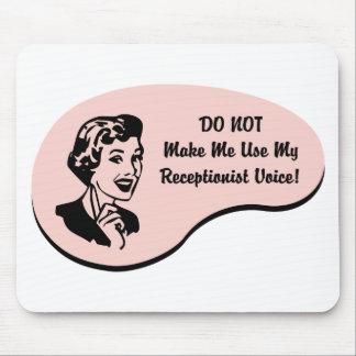 Receptionist Voice Mouse Pad