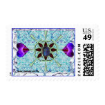 receptive postage stamp