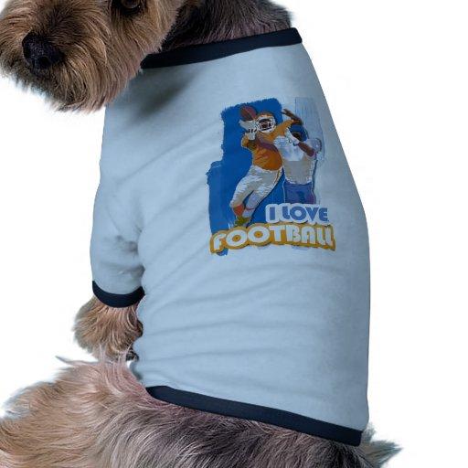 Receptor del iGuide del fútbol Camisas De Mascota