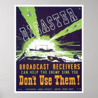 Receptores de la difusión del desastre - no los ut posters