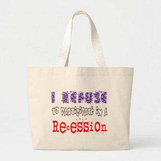 Recesión de la basura bolsa tela grande