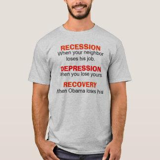 Recesión, depresión, recuperación - camiseta