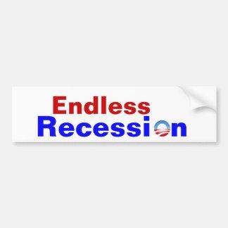 Recesión sin fin II Pegatina Para Auto