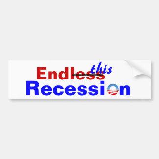 Recesión sin fin pegatina para auto