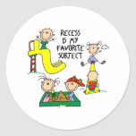 Recess Is My Favorite Subject Stickers