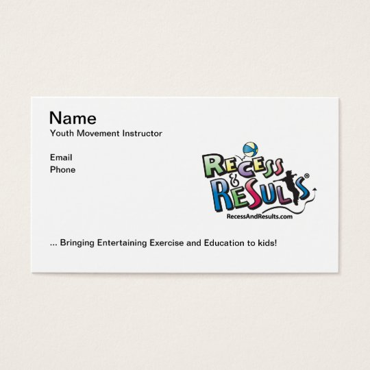 Recess & Results Business Card