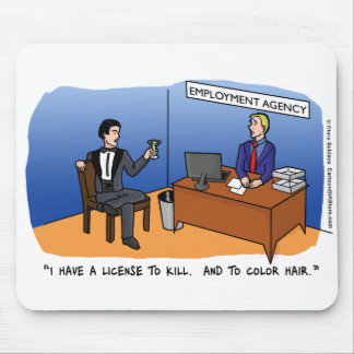Recession Cartoon Mousepad