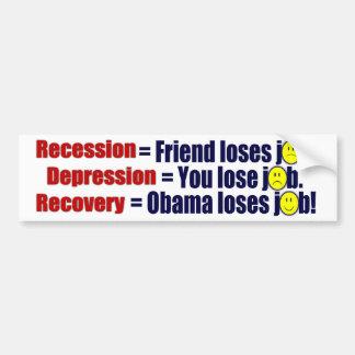 Recession, Depression or Recovery? Car Bumper Sticker