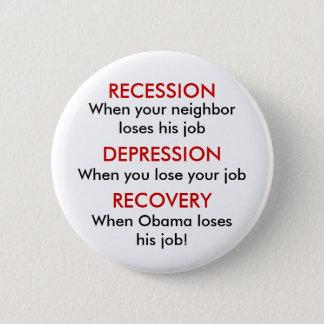 Recession, Depression, Recovery Button