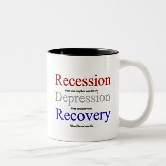 Recession Depression Recovery Two-Tone Coffee Mug