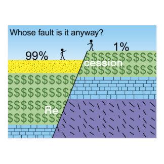 Recession fault post card
