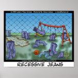 Recessive Jeans Funny Collecible Art Canvas Prints Poster